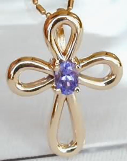 Tanzanite cross pendants in 14k yellow gold from myjewelrysource gp 05 carat tanzanite cross in 14k yellow gold aloadofball Choice Image
