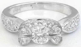 0.83 ctw Diamond Engagement Ring in 18k white gold