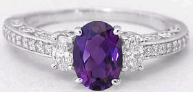 Amethyst Engagment Ring