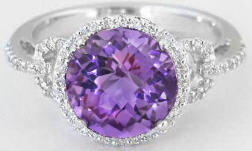 Purple Amethyst Engagement Rings