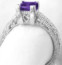 Princess Cut Amethyst Rings