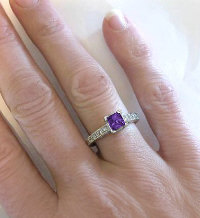 February Birthstone Promise Ring