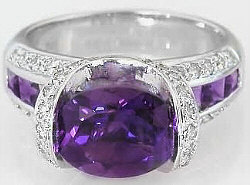 Unique Amethyst Engagement Rings