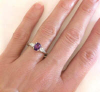 February Birthstone Rings in 14k