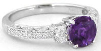 vintage amethyst and diamond engagement ring