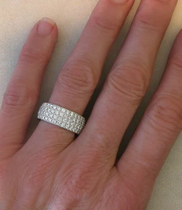 stone band anniversary ring bands stlrg diamond carat