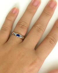 Semi Bezel Set Sapphire Ring in 14k gold