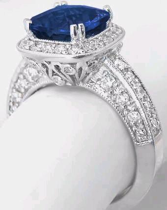 Blue Sapphire And Diamond Rings
