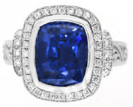 Color Change Sapphire Diamond Rings