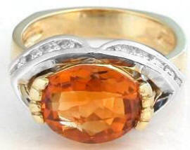 One of a Kind Citrine Rings in 18k Gold