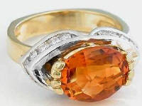 One of a Kind Madeira Citrine Rings