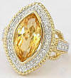 large marquise citrine ring in 14k