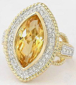 Marquise Cut Citrine Rings