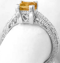 Vintage Citrine Engagement Rings