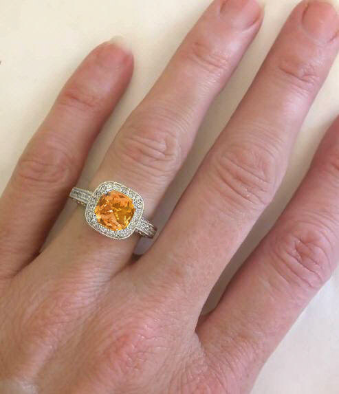 Citrine And Diamond Rings With Antique Filigree And
