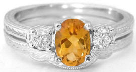 antique citrine engagement rings