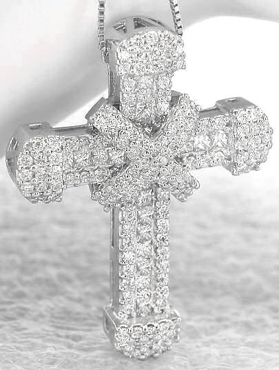 wow silly trinkets lady blinged diamond cross contrary christianity diamond cross necklace