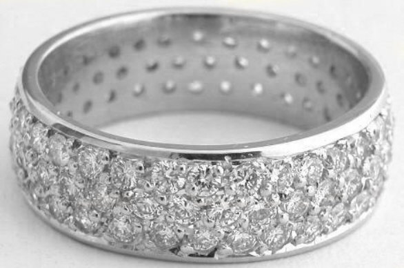 diamond cut band baguette gem platinum bands eternity