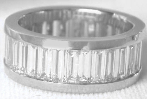 platinum platum bands diamond s ring eternity band baguette