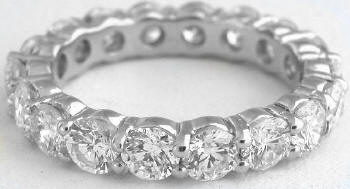 on diamond eternity diamonds small gold side wedding rings en bands carat in ring round with red the