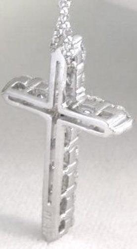 Diamond Cross Necklace With 1 0 Carat Of Diamonds In 14k