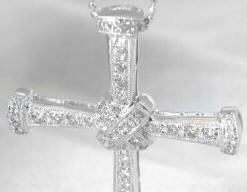 Diamond Cross Necklaces in 18k white gold