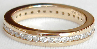 0.93 ctw Channel Set Round Diamond Eternity Band in Choice of Metals