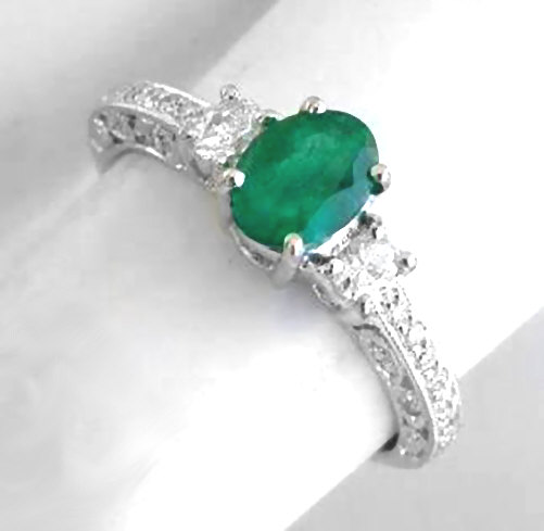 products on with finger rings diamond asymmetric small emerald emrald ring a engagement