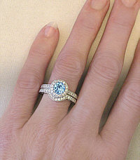 Aquamarine and Diamond Engagement Rings