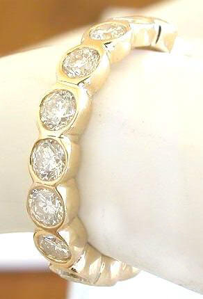 set in bezel white k tw i g eternity milgrain h work jp arria si gold diamond carat bands band