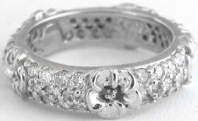 Diamond Eternity Ring with Flowers