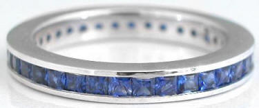 Princess Cut Sapphire Eternity Ring