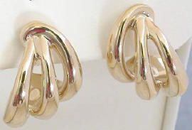 Artform Triple Swirl Earrings in 14k yellow gold