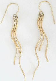 Playful Squiggle Earrings in 14k yellow gold
