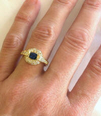 East West Set 1.32 ctw Oval Sapphire Rings