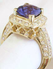 Lattice Gallery on iolite engagement rings