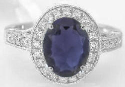 Iolite Rings in White Gold