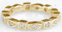 Eternity Band in 14k with Marquise and Square Stations