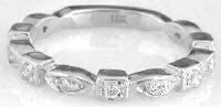 Straight Diamond Band with sizing bar