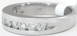 Men's Channel Set Diamond Wedding Band in 14k gold