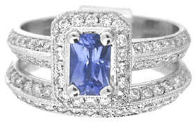 Periwinkle Blue Sapphire Engagement Rings