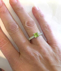 Vintage Style Peridot and Diamond Rings