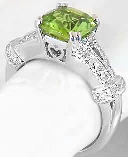 heart gallery on cushion cut peridot engagement rings - Peridot Wedding Rings