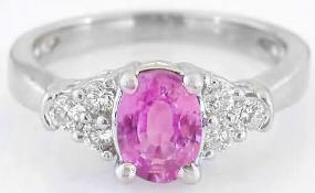 White Gold Pink Sapphire Rings