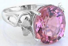Large Light Pink Tourmaline Rings