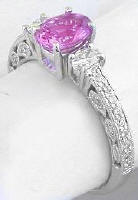 Antique Pink Sapphire Engagement Rings