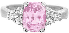 Natural Pink Sapphire Engagement Rings