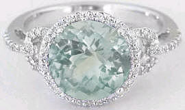 Green Amethyst Engagement Rings