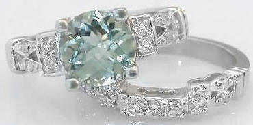 8mm green amethyst engagement rings