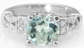 Green Amethyst Rings in 14k